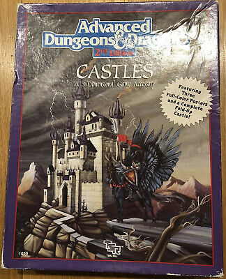 AD&D CASTLES 3-Dimensional Game Accessory Boxed Set TSR DUNGEONS DRAGONS • 14.20£