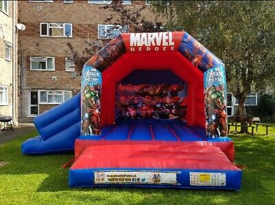 15x17ft Marvel Avengers Bouncy Castle With Slide Inflatable • 550£