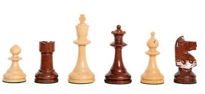 The W.T. Pinney Series Chess Set - Pieces ONLY - 4.75  King - Natural And Anjan • 259.96£
