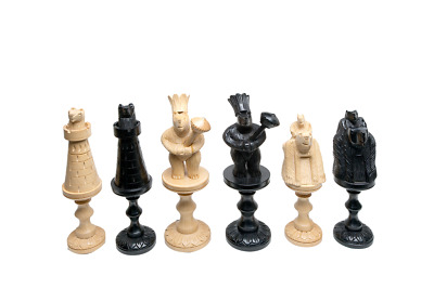 Bear Series Luxury Wood Chess Pieces - 6.0  King - Genuine Ebony & Boxwood • 538.75£