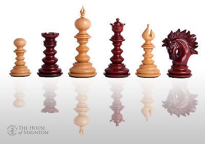 The Savano Luxury Chess Set - Pieces Only - 4.4  King - Blood Rosewood • 960.71£