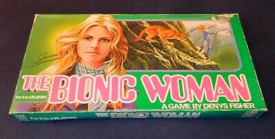 The Bionic Woman 1975 Board Game Denys Fisher Jaime Sommers- Rare, 100% Complete • 18.50£