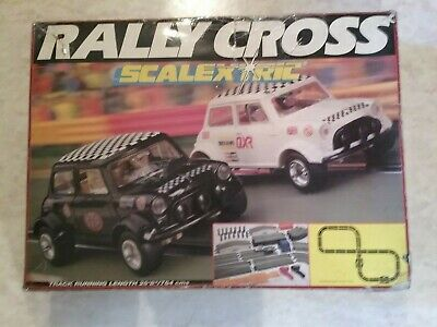 Vintage Scalextric Rally Cross C555 Set - Working Order, Cars Replaced • 30£