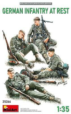 Miniart 35266 1:35th Scale German Infantry At Rest NEW FOR 2020 • 12.99£