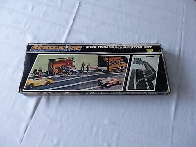 Vintage Scalextric Twin Track Pitstop Set. C.190 BOXED. Classic Track. • 24£