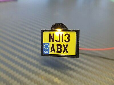 1:14 Scale Tamiya Truck/Trailers Square Illuminated Number Plate Holder • 9.99£