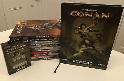 Conan Adventures In An Age Undreamed Of Roleplaying Game HUGE BUNDLE! • 120£