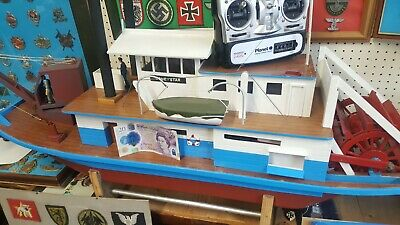 Radio Controlled Boat Paddle Steamer Hand Build One Of A Kind  • 350£