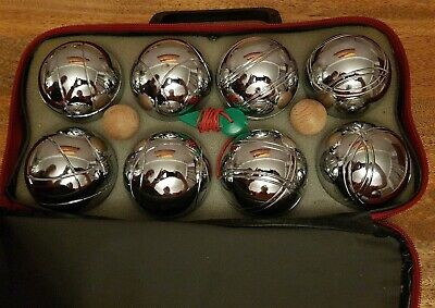 Vintage Jean Blanc-JB Petanque/  Boules Set Of 8 In Carry Case Amazing Condition • 50£