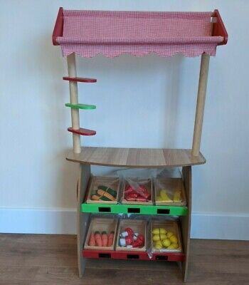 Children's Fruit And Vegetable Market Stall (Excellent Condition) • 10£