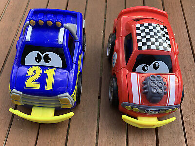 Chicco Red And Blue Turbo Touch Crash Derby Cars For Ages 2 Years And Over • 5£