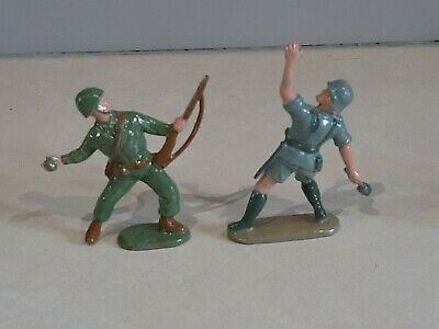 Charbens Recast Painted WW2 Model Soldiers X 2, US Army And German Afrika Corps • 7£