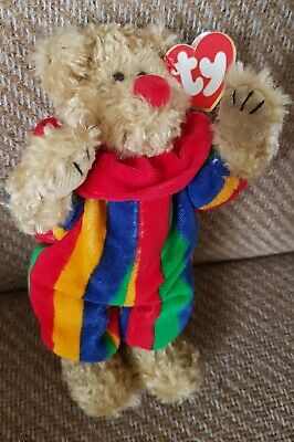 🖤🖤 Very Rare Ty -   Piccadilly  Clown Bear - Wrong Tag - Azaela - Attached  • 5£
