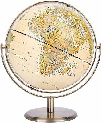 Exerz Antique Desktop Globe Educational All Direction 360° Rotating Dia 20CM  • 24.99£