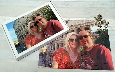 Personalised Jigsaw Puzzle A3 300 / 384 PIECE Photo Gift In A BOX • 10.45£