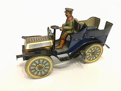 Superb Condition All Original  Early Tinplate Veteran Car Germany C 1904 • 800£