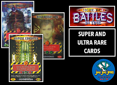 Dr Doctor Who Battles In Time SUPER AND ULTRA RARE Cards - ALL SETS - RESTOCKS! • 9.99£