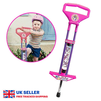 Unicorn Pogo Stick Spring Powered Jumper Outdoor Toy Kids Game Bounce Girl Gift • 24.99£