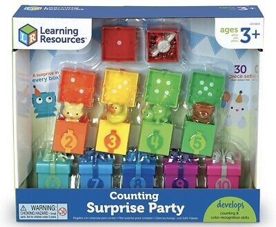 Learning Resources Counting Colour Unbox Surprise Party Set Educational Toy • 19.89£