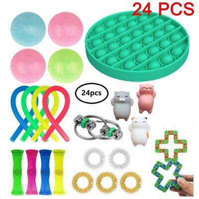 24Pcs Fidget Toys Set Sensory Tools Bundle Stress Relief Hand Kids Adults Toy UK • 13.98£