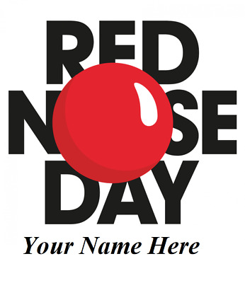 Your Name Red Nose Day Customized Iron On T Shirt Transfer Diy April Fools Day  • 3.49£