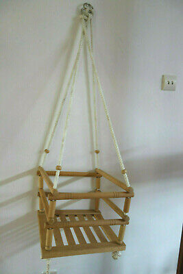 Wooden Child's Swing Adjustable Rope Good Condition Kids Great Fun • 12.99£