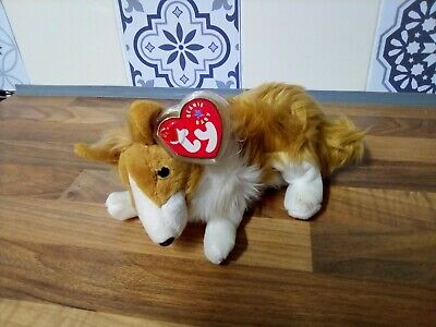 TY Cassie The Collie Dog Beanie Baby 2000 With Original Tag  • 2.50£