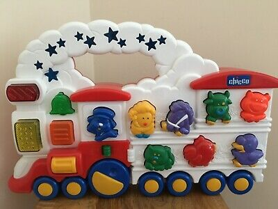 """""""Vintage"""" Chicco Animal, Shape, Colour Train  Electronic  Sounds Interactive To • 13.99£"""