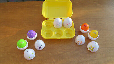 Tomy Toomies Hide And Squeak Eggs Activity Toy Shape Sorter Baby Toddlers Kids • 3£