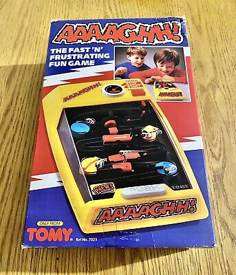 AAAAGHH! By TOMY | VINTAGE 1980's Pinball Obstacle Game With Box • 52£