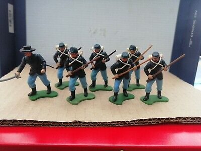 Britains Swoppets ACW 7 Union Toy Soldiers Played With • 24£