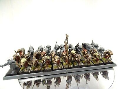 Skaven Clanrat Regiment. 40 Models With Movement Tray.  Warhammer.(PK598) • 34.99£