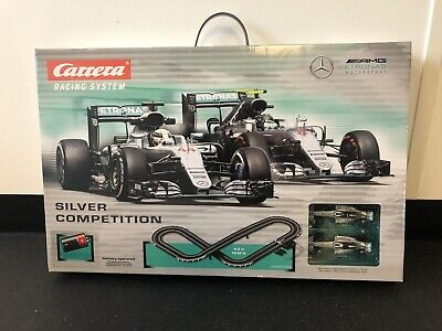 CARRERA RACING SYSTEM Silver Competition Pre Owned Mercedes F1 • 59.99£