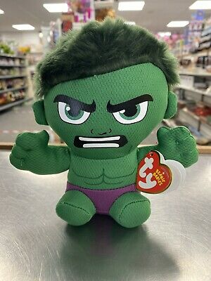 Ty Marvel Incredible Hulk Soft Toy Avengers Plush Beanie Boo 16cm • 9.99£