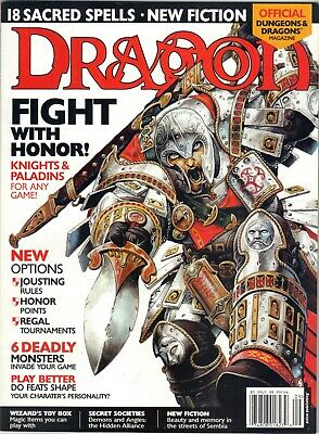 DRAGON MAGAZINE 299 Jousting War Forgotten Realms Price Includes Delivery In UK • 9.99£