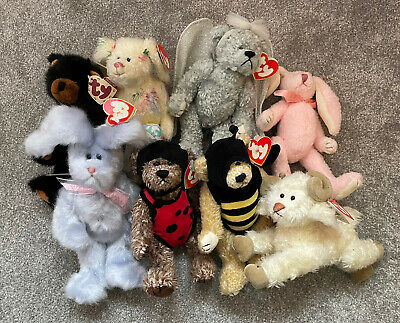 TY Attic Treasures Bundle Of 8 Soft Toys - All With Tags - Ramsey, Bushy, Beezee • 4.99£