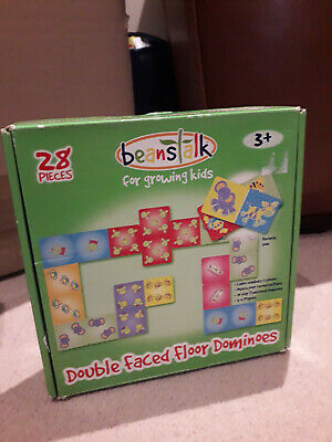 Beanstalk, Double Faced Floor Dominoes For Growing Kids. 28 Pieces. Great Fun. • 0.99£