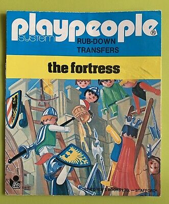 """Vintage 70's Playmobil Playpeople """"The Fortress"""" Rub Down Transfer Set. • 4.99£"""