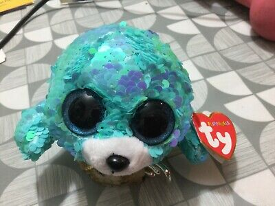 Lovely Ty Flippables Wave Sequins Plush Toy, Blue Seal, New  • 4.99£