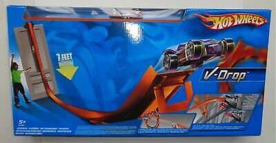 2005 Hot Wheels V-drop Track Set By Mattel - Sealed And Shop Fresh! • 30£