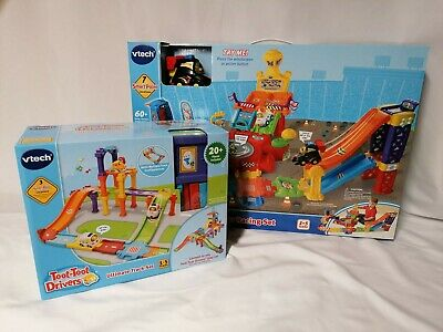 VTech Toot-Toot Drivers Super Racing Set & Ultimate Track Set Brand New In Box  • 53.99£