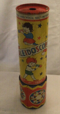 TRADITIONAL TIN KALEIDOSCOPE CLASSIC TOY Vintage Made In England • 24.99£