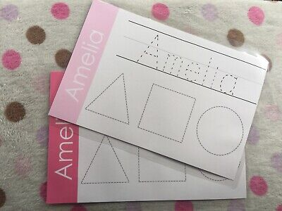 Personalised Name Mat, Learning Tracing Learn My Name Learn To Write Educational • 3.50£