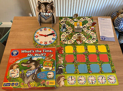 Orchard Toys - What Time Is It Mr Wolf - Learning Time/educational - • 7£