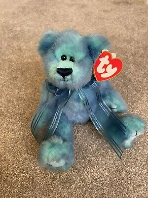 TY Attic Treasures - Azure The Blue Bear - With Tags • 3.95£