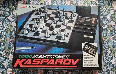 Saitek Kasparov Turbo Advanced Trainer Chess Computer Set- Boxed • 34.99£