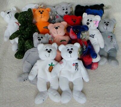 17 Collecticritters Bears. Space Shuttle Bears, USA State Bears, Millennium Y2K  • 6£