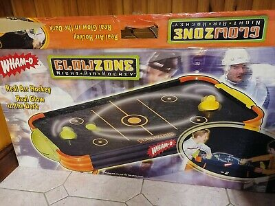 Wham-o Glowzone Night Air Hockey Jr Table Top Game • 20£