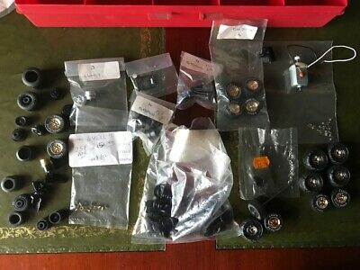 Large Box Of Unused Scalextric Spares. Tyres, Wheels, Hubs,eyelets,guides,motor. • 4.99£