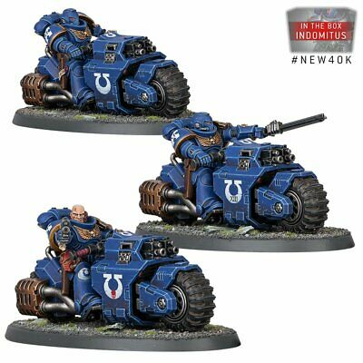 3x Primaris Space Marine Outriders Warhammer 40k 9th Edition • 10.55£